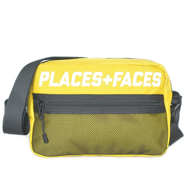 "[PLACES+FACES] ""P+F"" POUCH BAG / YEL"