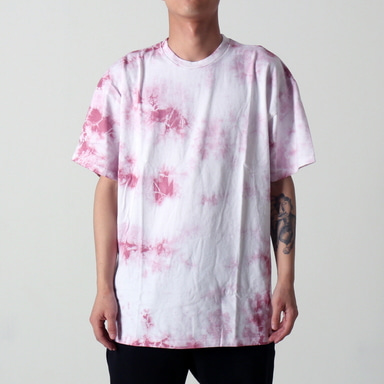 [$ SHOP SALE] [EPTM] UNEVEN WASHED BOX TEE (DUSTY PINK)