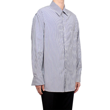 [CLACO] STRIPE SHIRT V2 (DARK NAVY)