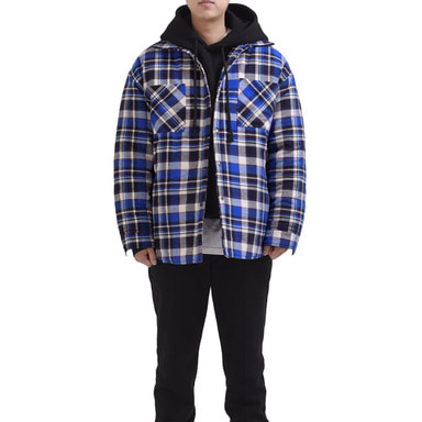 [RCNP] FLANNEL PADDED SHIRTS (BLUE)