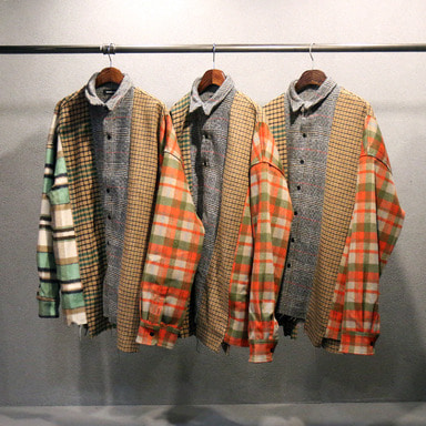 [마지막 수량 SALE] [COUPDEGRACE] REBUILD 5 CUTS FLANNEL SHIRT (MULTI)