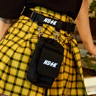 [NSTK] SHOULDER BELT POUCH BAG (BLK)