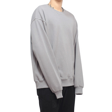 [CLACO] STITCH SWEAT SHIRTS V2 (CEMENT)