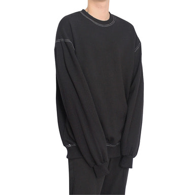 [CLACO] STITCH SWEAT SHIRT V2 (BLACK)