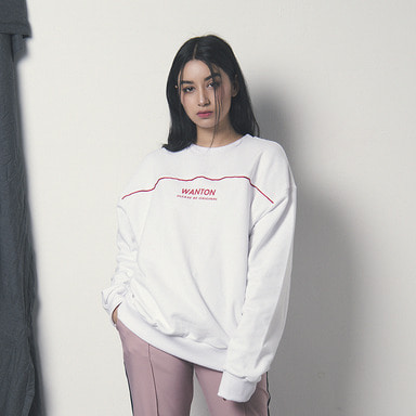 [WANTON] CIRCLE SWEATSHIRT WHITE