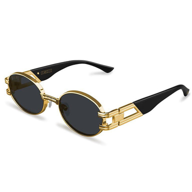 ST. JAMES BLACK & 24K GOLD SUNGLASSES