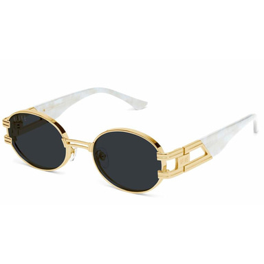 ST. JAMES MARBLE CROC & 24K GOLD SUNGLASSES