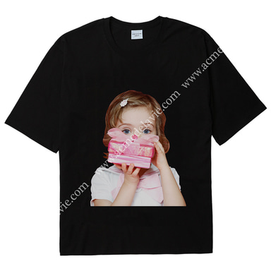[ACME DE LA VIE] ADLV BABY FACE SHORT SLEEVE T-SHIRT (BLACK) 베이비 페이스 반팔 블랙 기프트