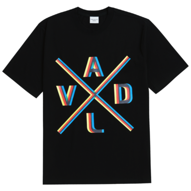 [ACME DE LA VIE] ADLV 3D X LOGO SHORT SLEEVE T-SHIRT BLACK