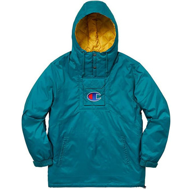 [SUPREME] 18SS CHAMPION PULLOVER PARKA TEAL