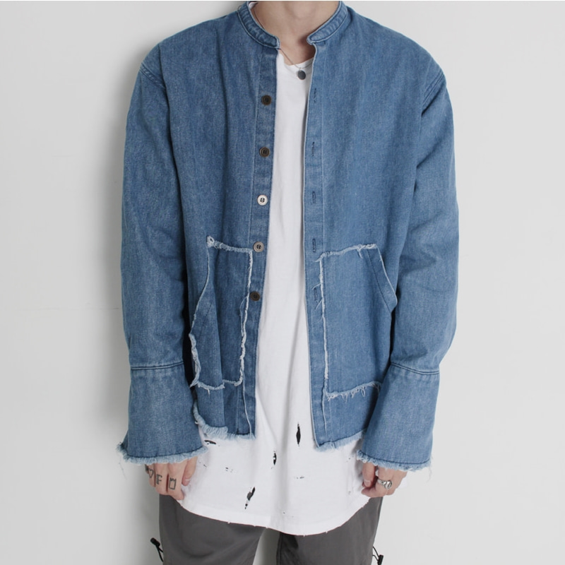 [BURJ SURTR] HALF DENIM JACKET