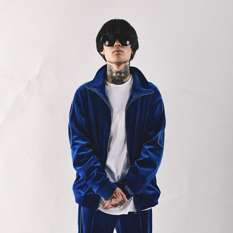REFLECT VELVET TRACK JACKET (ROYAL BLUE)