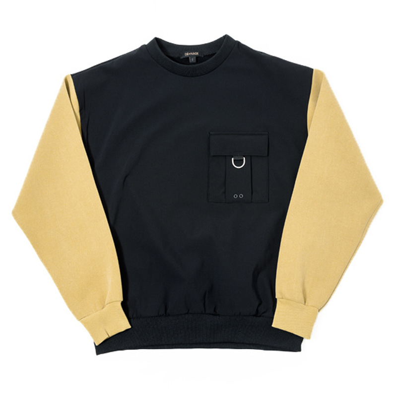 WASHING OVER CREWNECK (MUSTARD)