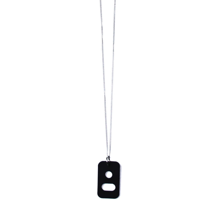 EYE WEAR HOLDER NECKLACE TRACK.1 BLACK