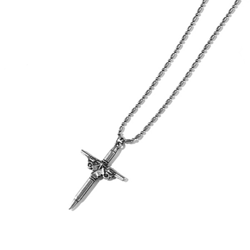 BULLET&SHOT CROSS NECKLACE MSNAJ003-BS