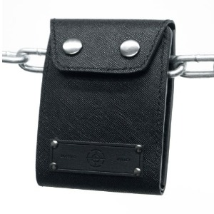 COWHIDE PATCHLOGO WORK WALLET